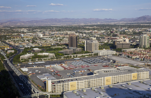 The site of the proposed 17,500-seat music venue funded by Las Vegas Sands Corp and some of the top players in the entertainment industry, Tuesday, May 24, 2016, in Las Vegas. (Benjamin Hager/Las  ...