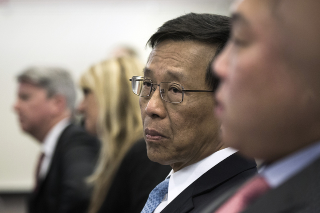 Kok Thay Lim, chairman and CEO of Genting Group, appears before the Gaming Control Board for licensing on Wednesday, May 4, 2016. The Malaysian-based  company is schedule to start building Resorts ...