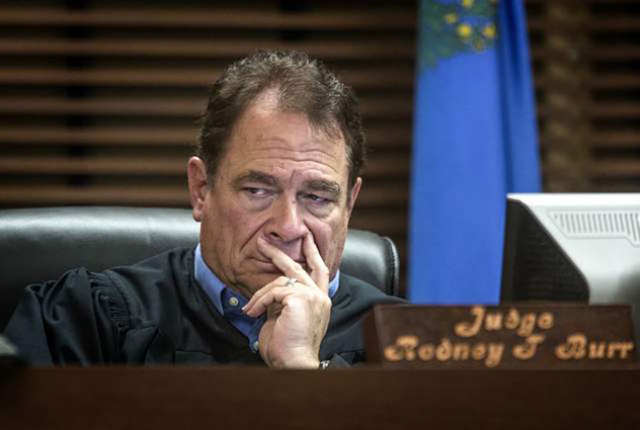 Henderson Justice of the Peace Rodney T. Burr as seen during a hearing Monday, Nov. 25, 2013. (Jeff Scheid/Las Vegas Review-Journal)