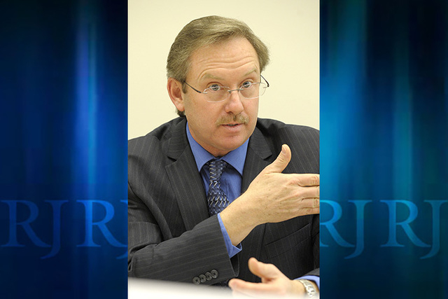 Henderson Chief Financial Officer Richard Derrick (Review-Journal File)