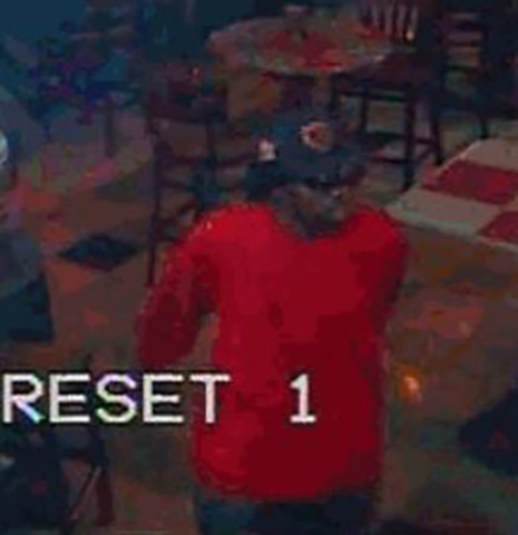 Metro described the suspect as in his 30s and approximately 6 feet, 1 inch tall. (Courtesy LVMPD)