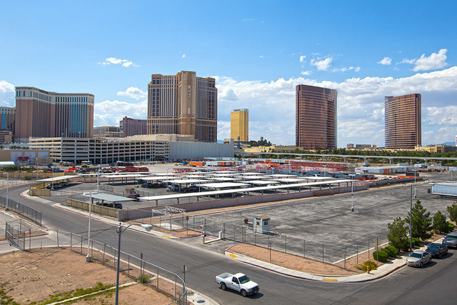 The site of the proposed 17,500-seat venue funded by Las Vegas Sands Corp and some of the top players in the entertainment industry designed specifically for live music performances, Tuesday, May  ...
