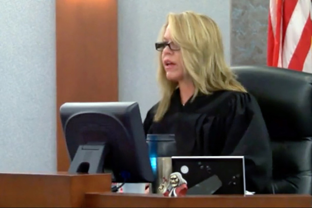 Judge Melanie Andress Tobiasson presides at a trial at the Las Vegas Regional Justice Center on Friday, November 14, 2014. (Michael Quine/Las Vegas Review-Journal)