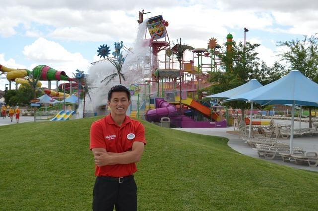 A chilly spring isn't enough to keep Takuya Ohki down. The Wet'n'Wild Las Vegas general manager said the attraction is ready for hot weather. Ginger Meurer/Special to View
