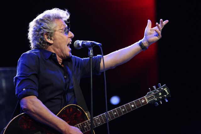 Roger Daltrey of The Who performs at the Colosseum in Caesars Palace on Sunday, May 29, 2016 in Las Vegas. Brett Le Blanc/Las Vegas Review-Journal Follow @bleblancphoto