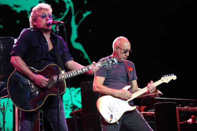 Roger Daltrey, left, and Pete Townshend, of The Who perform at the Colosseum in Caesars Palace on Sunday, May 29, 2016 in Las Vegas. Brett Le Blanc/Las Vegas Review-Journal Follow @bleblancphoto
