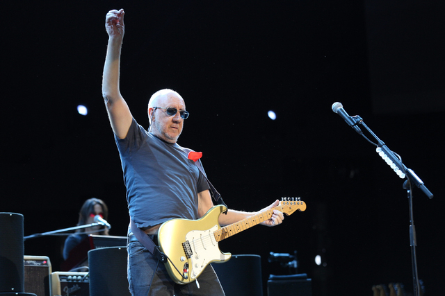 Pete Townshend of The Who performs Sunday at the Colosseum in Caesars Palace on Sunday, May 29, 2016 in Las Vegas. Brett Le Blanc/Las Vegas Review-Journal Follow @bleblancphoto