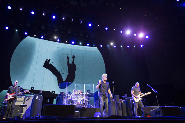 Roger Daltrey, left, and Pete Townshend, right, of The Who perform at the Colosseum in Caesars Palace on Sunday, May 29, 2016 in Las Vegas. Brett Le Blanc/Las Vegas Review-Journal Follow @bleblanc ...