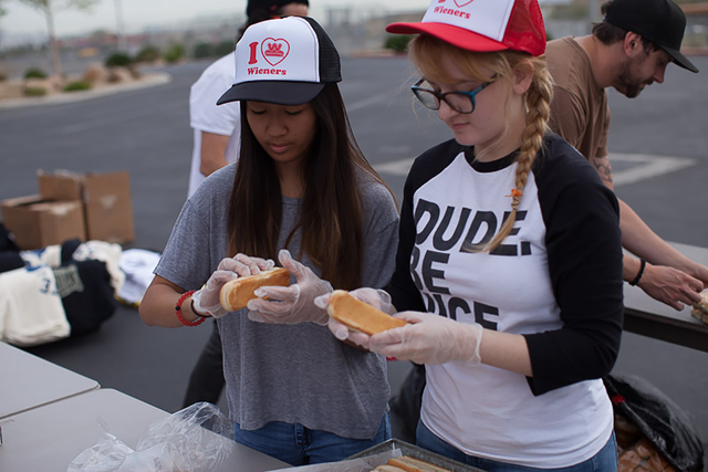 Wienerschnitzel partnered with Skate For Change, a nonprofit encouraging youths to give back to the homeless, for the second annual Hot Dogs for Homeless Tour April 6. A Wienerschnitzel-wrapped RV ...