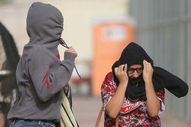 Wind gusts could reach 36 mph on Friday with temperatures in the 80s. (Ronda Churchill/Las Vegas Review-Journal)