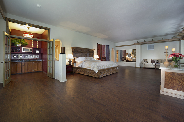 The home has a large master bedroom. (COURTESY)