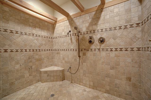 The large shower in the master bath. (COURTESY)