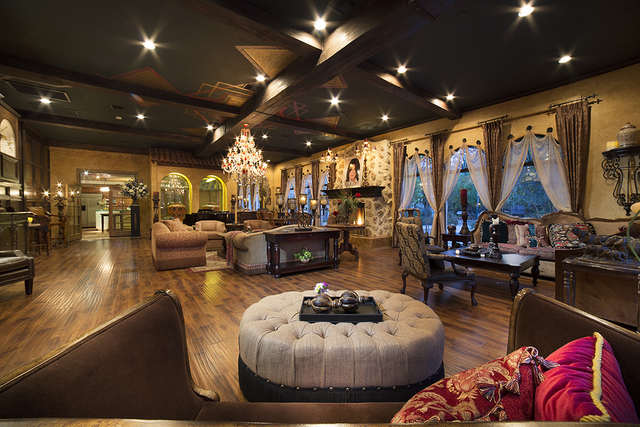 The salon was said to be one of Michael Jackson's favorite rooms in the home. (COURTESY)