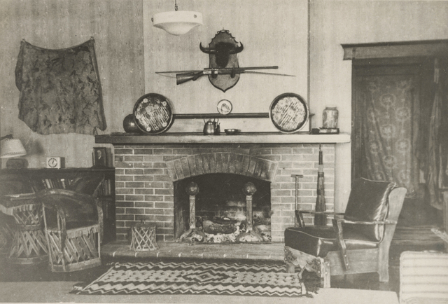 Undated photo of the inside of Kiel Ranch mansion on the site. (Nevada State Parks)