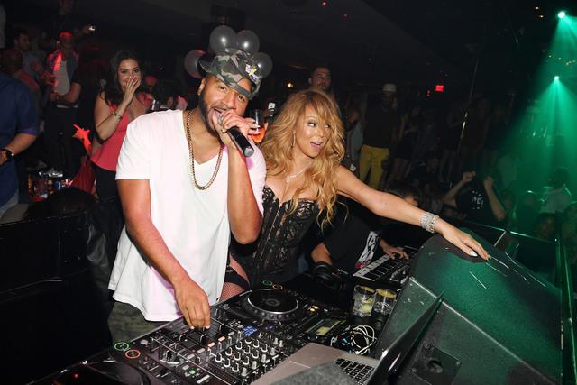 Mariah Carey iand DJ Suss entertain at 1 Oak Nightclub at The Mirage. (Courtesy/Denise Truscello)
