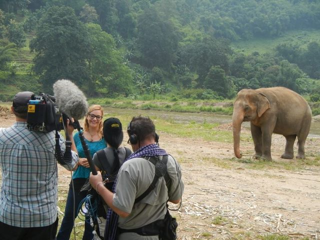 """Diana Edelman is interviewed while filming an episode of """"House Hunters International,"""" which documented her search for a house in Thailand in October 2014. In September 2011, Edelman went to Thai ..."""