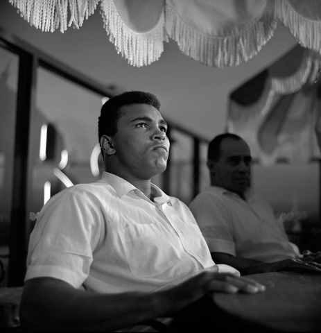 Muhammad Ali is seen at the Mint in downtown Las Vegas Nov. 4, 1965. Ali was in town for his fight against Floyd Patterson. (Las Vegas News Bureau)