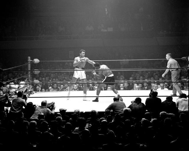 Muhammad Ali takes on Floyd Patterson at the Las Vegas Convention Center Nov. 22, 1965. (Las Vegas News Bureau)