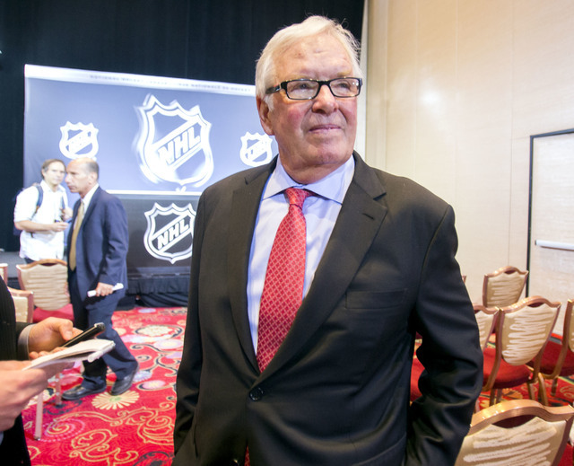 Bill Foley, Las Vegas billionaire businessman and owner of the new National Hockey League hockey expansion team, during a news conference at Encore Las Vegas on Wednesday, June 22, 2016. Jeff Sche ...