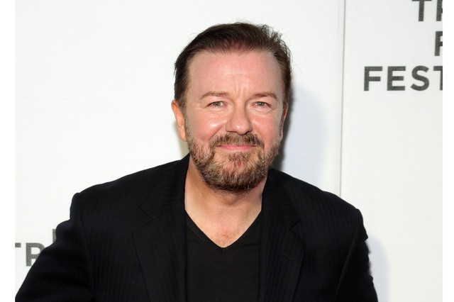 "Ricky Gervais attends Tribeca Talks After the Movie: ""Special Correspondents"" during the 2016 Tribeca Film Festival on April 22, 2016, in New York. Netflix announced June 16 that it has acquired a ..."