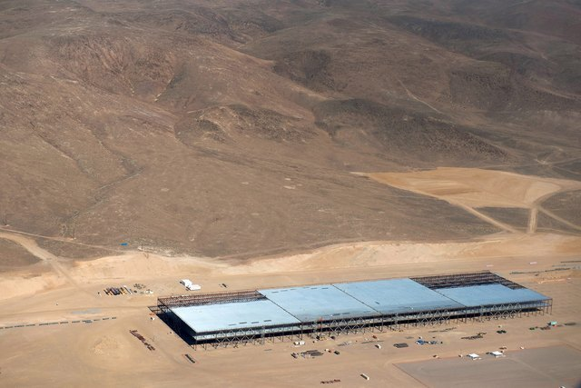 Construction of the Tesla Gigafactory outside Reno, Nevada is shown May 9, 2015. (James Glover II/Reuters)