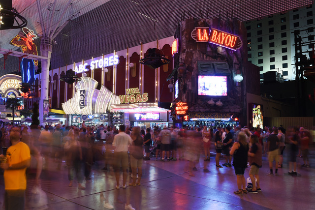 La Bayou Casino and ABC Stores are seen at the Fremont Street Experience Saturday, June 25, 2016. Mermaids Casino, La Bayou and Glitter Gulch will close their doors on June 27th to make way for a  ...