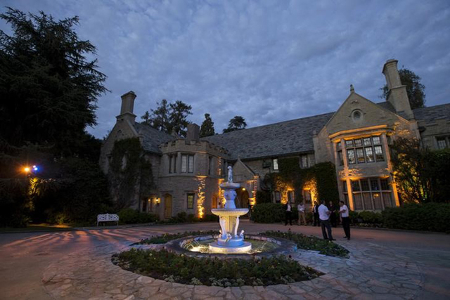 """A general view of the Playboy Mansion during the premiere of """"The Transporter Refueled"""" in Los Angeles, Aug. 25, 2015. (Mario Anzuoni/Reuters)"""