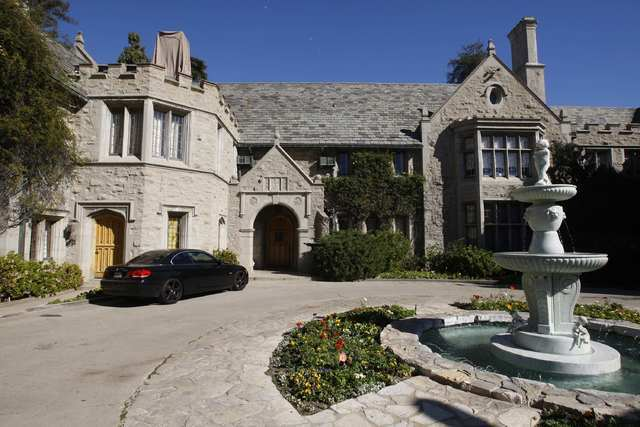 A view of the Playboy Mansion in Los Angeles, Feb. 10, 2011. (Fred Prouser/Reuters)