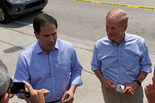 U.S. Senator Marco Rubio speaks at a news conference after a shooting attack at a gay nightclub in Orlando, Florida, U.S. June 12, 2016. (Kenvin Kolczynski/Reuters)