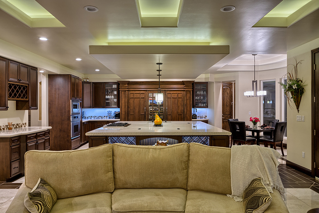 The kitchen is adjacent to the great room. (COURTESY OF LUXURY ESTATES INTERNATIONAL)