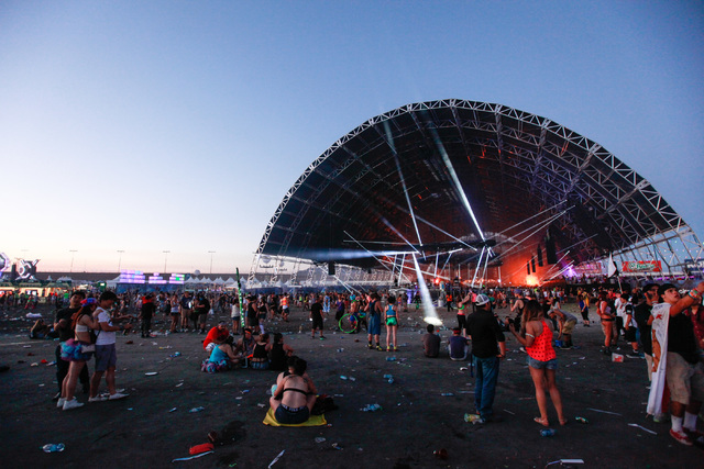 The Circuit Grounds stage is seen as the sun rises at Electric Daisy Carnival at the Las Vegas Motor Speedway in Las Vegas on Monday, June 22, 2015. (Chase Stevens/Las Vegas Review-Journal) Follow ...