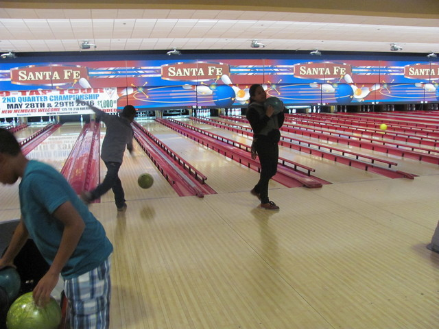About 100 Fifth-graders from Fitzgerald Elementary celebrated their graduation at Texas Station May 26, 2016, with two hours of bowling and snacks. The party was part of Station Casinos' Smart S ...