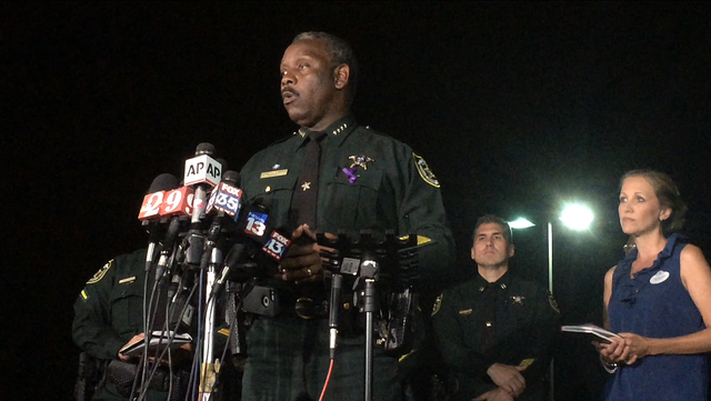 Orange County Sheriff Jerry Demings speaks at a news conference about a 2-year-old boy who was dragged into the water by an alligator on the shores of Disney's Grand Floridian Resort & Spa Tue ...