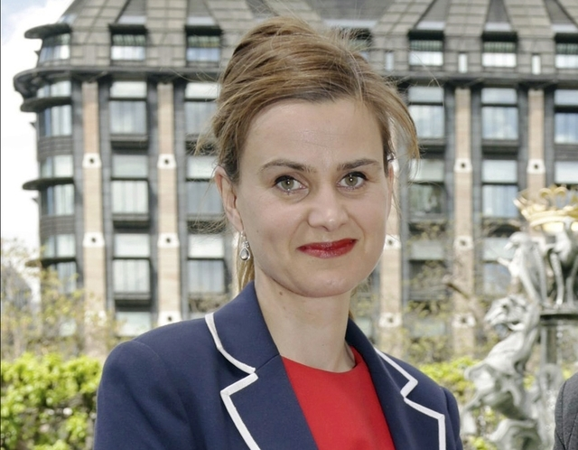 Labour Member of Parliament Jo Cox poses for a photograph, May 12, 2015. The British lawmaker was killed in a shooting and stabbing incident near Leeds, in West Yorkshire, England, Thursday June 1 ...