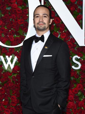 "Lin-Manuel Miranda arrives at the Tony Awards in New York, June 12, 2016. Miranda said Thursday, June 16, 2016, that he is leaving ""Hamilton"" on July 9. (Charles Sykes/Invision/AP)"