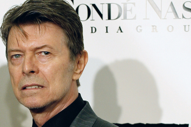 """In this Oct. 25, 2007, file photo, David Bowie arrives at the Fourth Annual Black Ball Concert for """"Keep A Child Alive"""" in New York. (AP Photo/Stephen Chernin)"""
