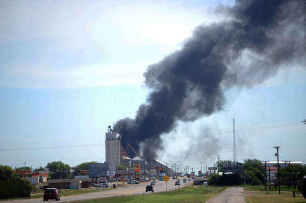 3 crew members missing after fiery Texas train crash