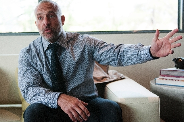 Lorenzo Fertitta, CEO of the UFC, is photographed during an interview at the UFC headquarters, Friday, August 2, 2013, in Las Vegas, Nev. (Erik Verduzco/Las Vegas Review-Journal)