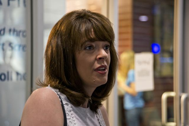 Michelle Bondietti talks with media after applying inside the TSA PreCheck Enrollment Center at McCarran International Airport in Las Vegas on Wednesday, June 29, 2016. Daniel Clark/Las Vegas Revi ...