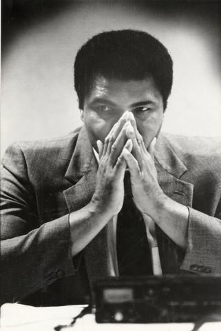 Muhammad Ali on Aug. 3, 1983. (Scott Henry/Las Vegas Review-Journal)