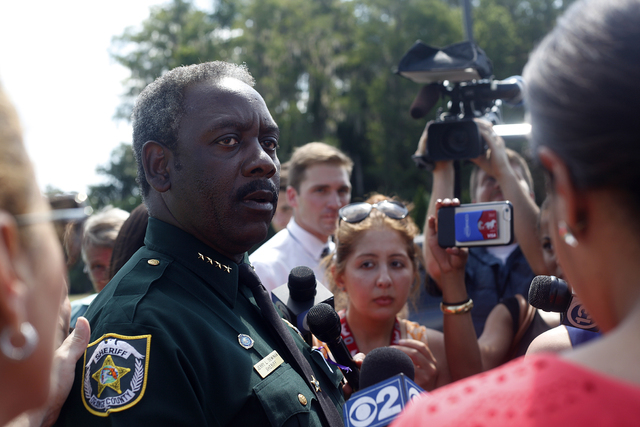 Orange County Sheriff Jerry L. Demings speaks to the news media at the Disney Resort on Wednesday, June 18, 2016 in Orlando, Florida. Rachel Aston/Las Vegas Review-Journal Follow @rookie__rae
