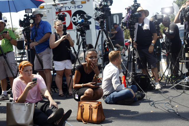 The press  waits for a news conference at the Disney Resort on Wednesday, June 18, 2016 in Orlando, Florida. Rachel Aston/Las Vegas Review-Journal Follow @rookie__rae