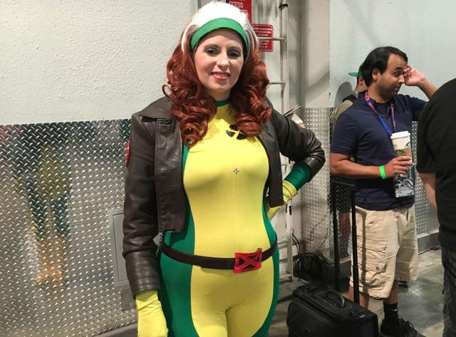 "Amanda Lynn cosplays as Rogue from ""X-Men"" at the Amazing Las Vegas Comic Con on Saturday, June 18, 2016. (Ashley Casper/Las Vegas Review-Journal)"