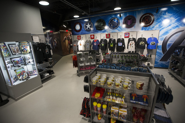 The retail area at the Marvel's Avengers STATION inside the Treasure Island hotel-casino is seen on Friday, June 10, 2016, in Las Vegas. Erik Verduzco/Las Vegas Review-Journal Follow @Erik_Verduzco