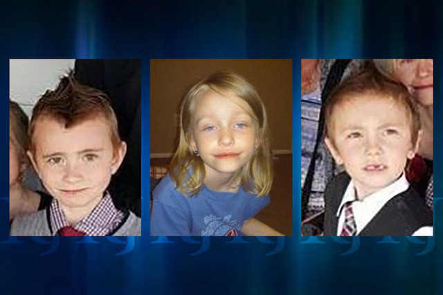 "Lewis ""Louie"" Dunn, 10, left; Kaylee Dunn, 9; and Kadyn Simon, 6. (The National Center for Missing and Exploited Children)"