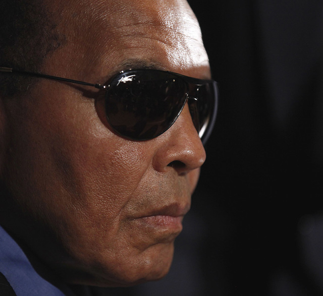 Boxing legend Muhammad Ali is seen during a news conference at the National Press Club in Washington, Tuesday, May 24, 2011. (Pablo Martinez Monsivais/AP)