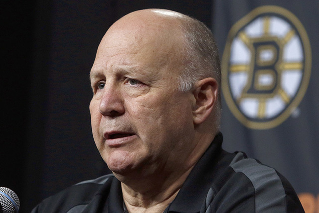Boston Bruins head coach Claude Julien speaks at a news conference at TD Garden Thursday, April 14, 2016, in Boston.  (Bill Sikes/AP)