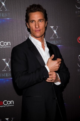 Matthew McConaughey attends STX Entertainment Production Red Carpet at Caesars Palace on Tuesday, April 12, 2016, in Las Vegas. (Andrew Estey/Invision/AP)