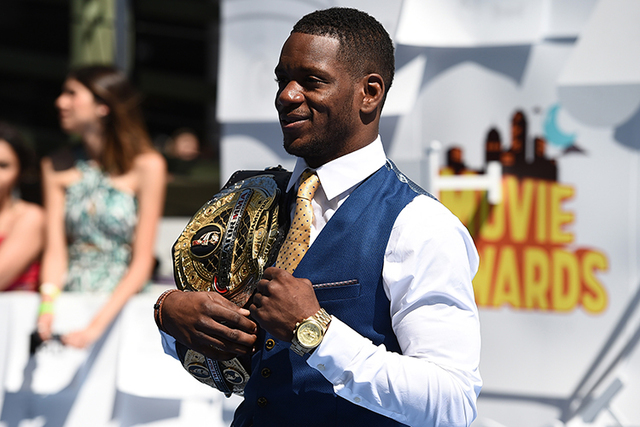 Will Brooks arrives at the MTV Movie Awards at the Nokia Theatre on Sunday, April 12, 2015, in Los Angeles. (Photo by Jordan Strauss/Invision/AP)