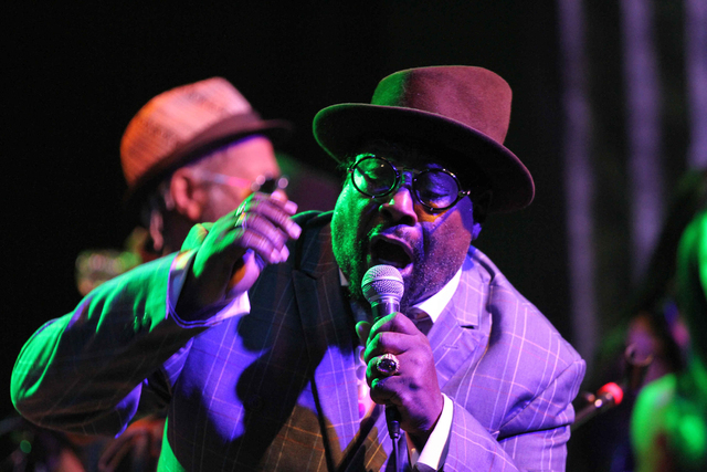 George Clinton and Parliament Funkadelic performs at the Variety Playhouse on Wednesday, Feb. 11, 2015, in Atlanta. (Photo by Robb D. Cohen/Invision/AP)